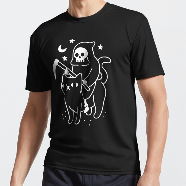 Der Tod reitet eine schwarze Katze Funktionsshirt