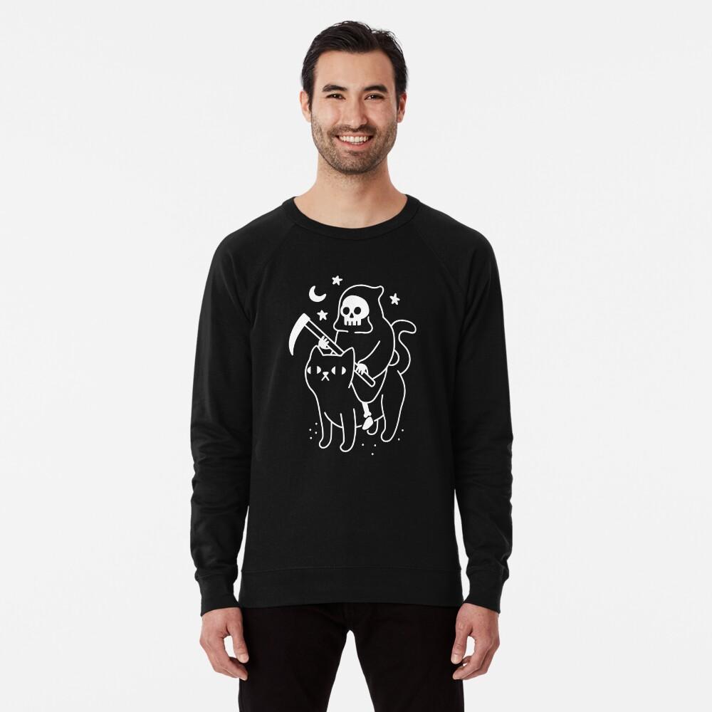 Death Rides A Black Cat Lightweight Sweatshirt