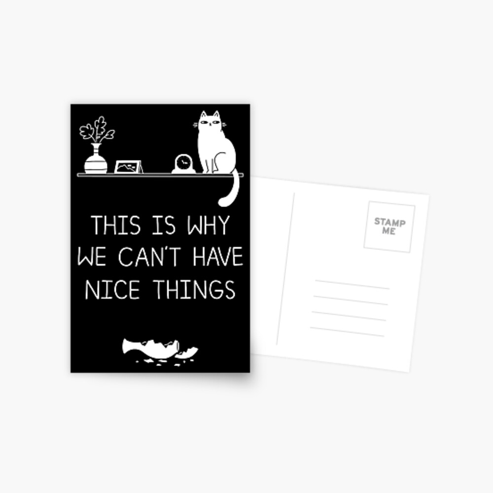 This Is Why We Can't Have Nice Things Postcard