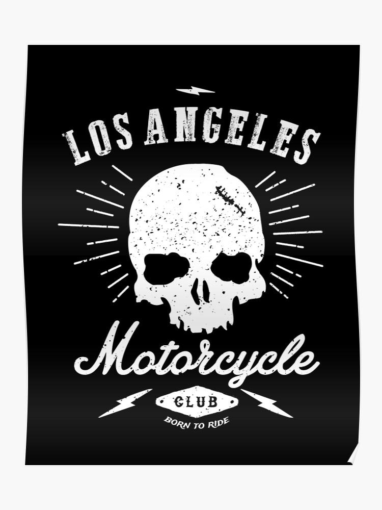 Los Angeles Motorcycle Club Tee | Black | Poster