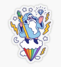 Wizard In The Sky Transparent Sticker