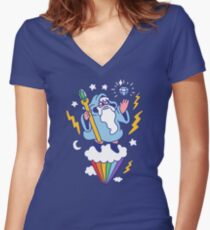 Wizard In The Sky Fitted V-Neck T-Shirt