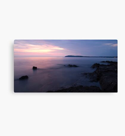 Dusk on the Adriatic sea Canvas Print