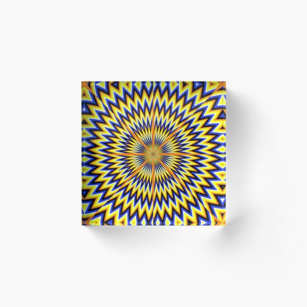 #Illusion #abstract, #pattern, #design, shape, art, futuristic, modern, illustration, geometry Acrylic Block