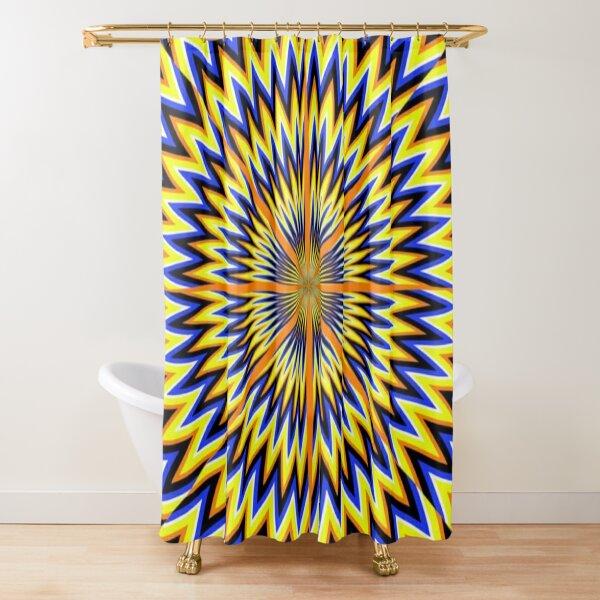 #Illusion #abstract, #pattern, #design, shape, art, futuristic, modern, illustration, geometry Shower Curtain