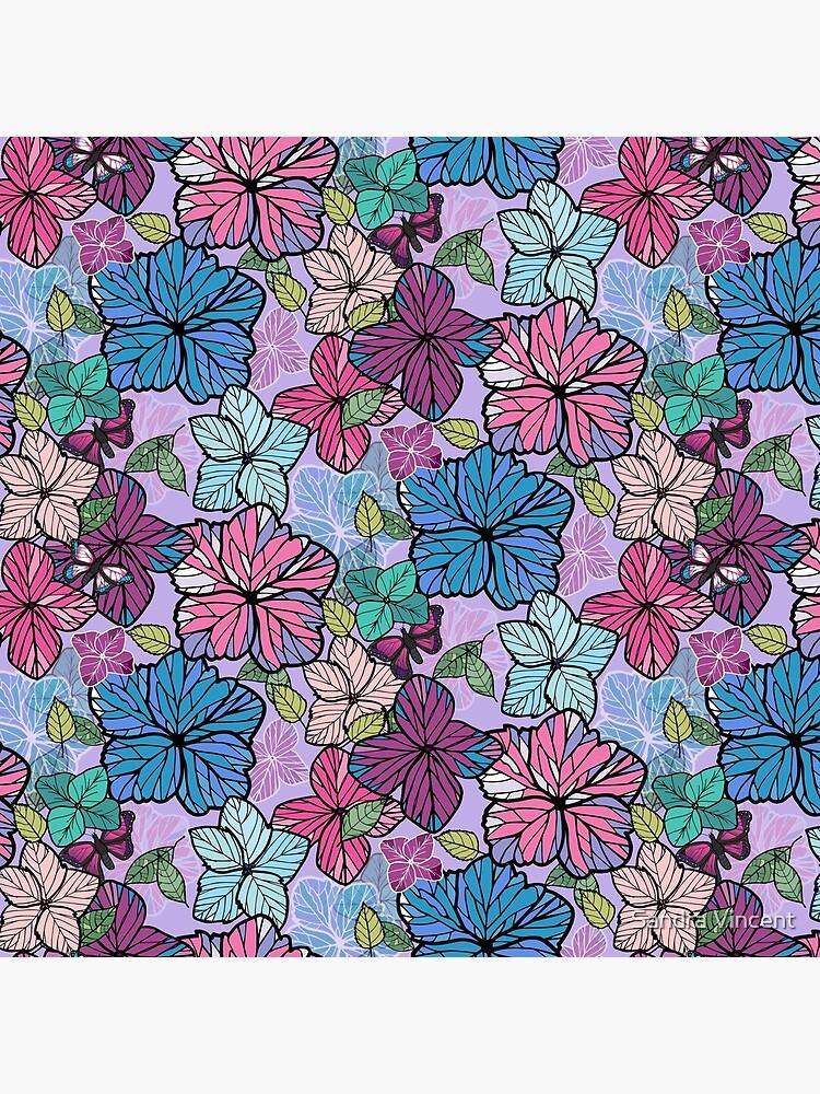 Hydrangeas & Butterflies by sandravincent
