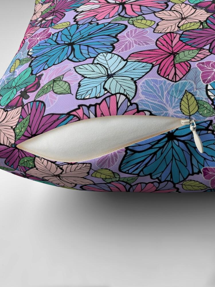 Alternate view of Hydrangeas & Butterflies Floor Pillow