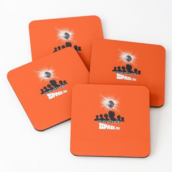 PARTY LIKE IT'S SPACE: 1999 ORANGE Coasters (Set of 4)