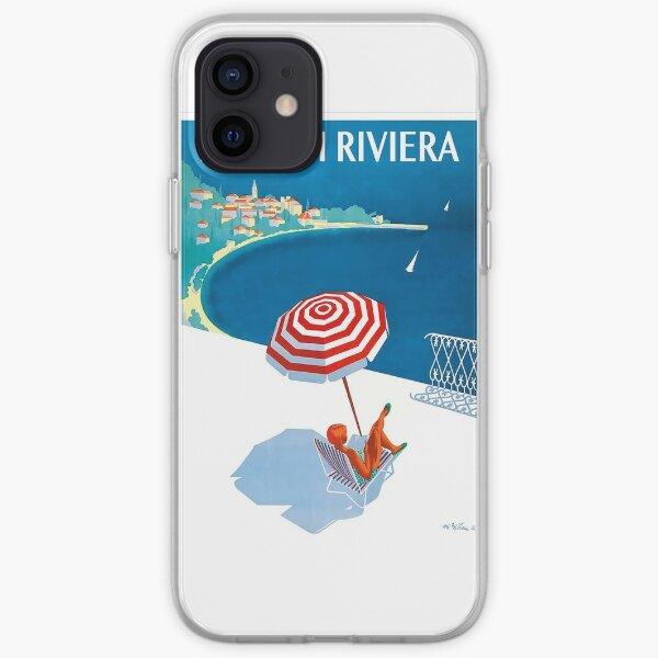 1954 französisches Riviera-Reise-Plakat iPhone Flexible Hülle