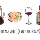 You Age Well (Happy Birthday!) Card by abigailhausman
