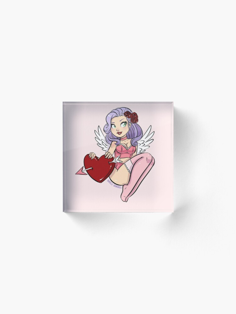 Alternate view of Cupid's Heart Acrylic Block