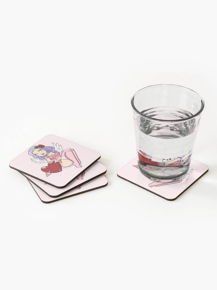 Alternate view of Cupid's Heart Coasters (Set of 4)