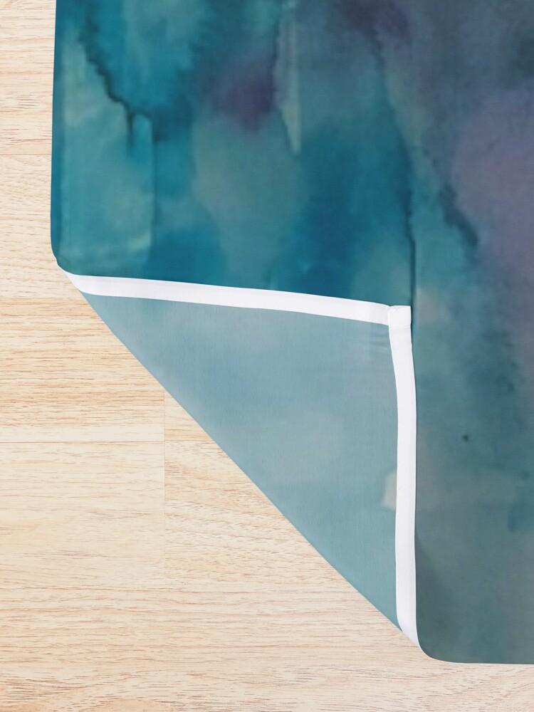 Alternate view of blue landscape Shower Curtain