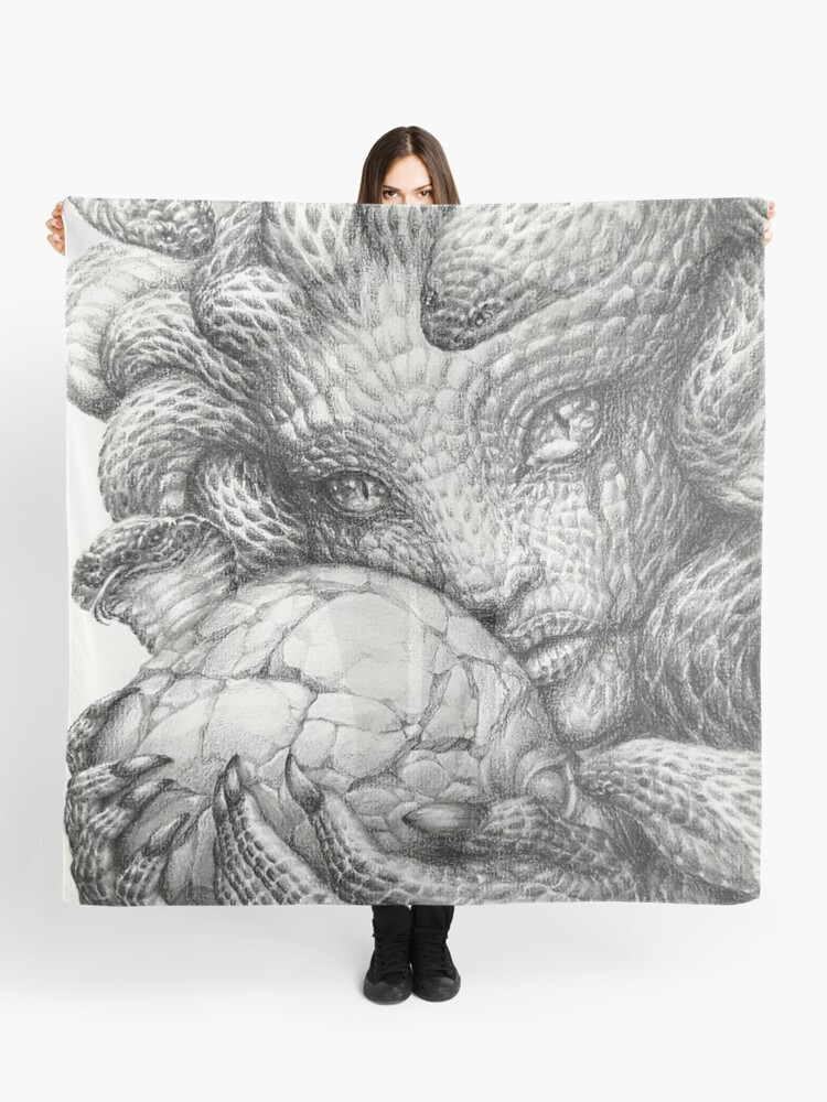 medusa crumbling skull graphite prisma pencil drawing scarf by tranquileyez redbubble