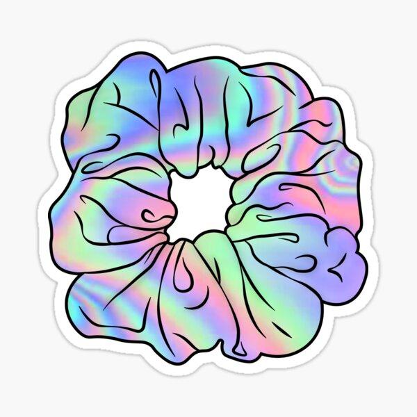 Holographic Hair Scrunchie Sticker