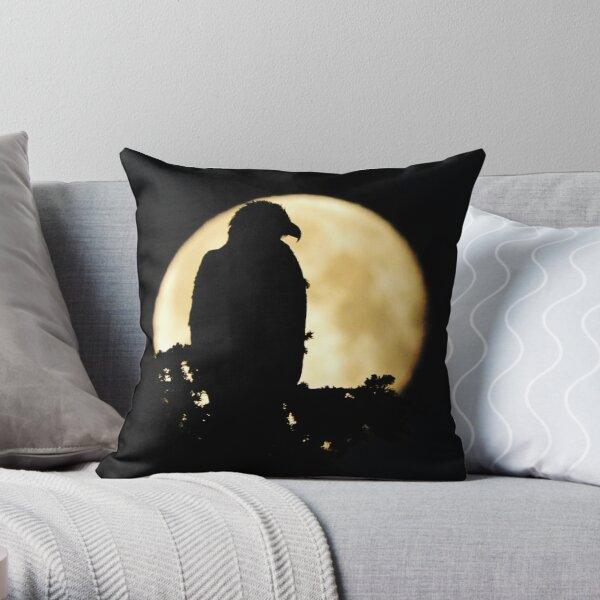 Bald Eagle Silhouette Throw Pillow