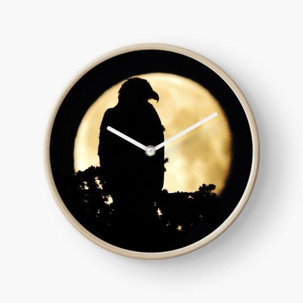 Bald Eagle Silhouette Clock