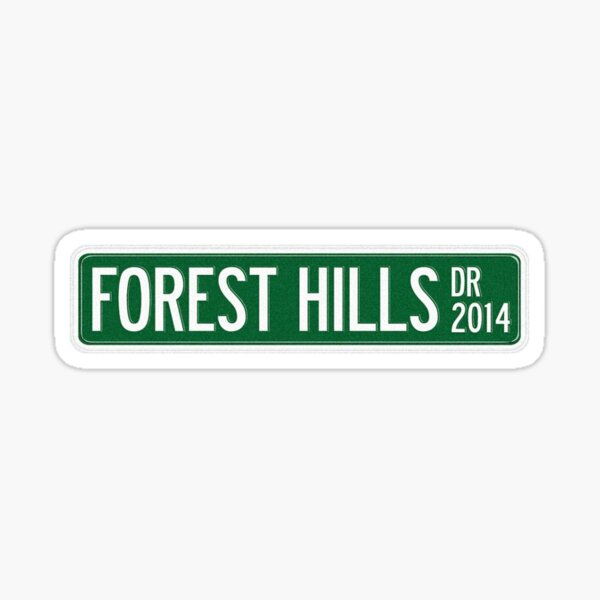 J. Cole - 2014 Forest Hills Drive Dr V2 Sticker