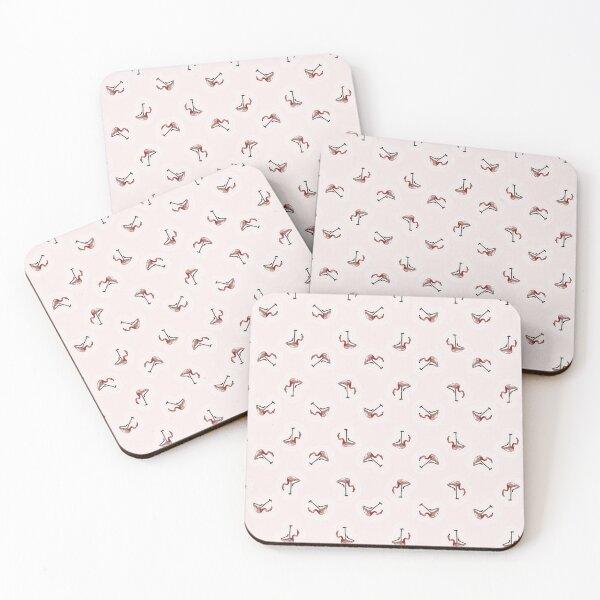 Pink Flamingos Coasters (Set of 4)