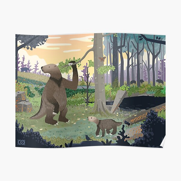 The Ground Sloths of Indiana Poster