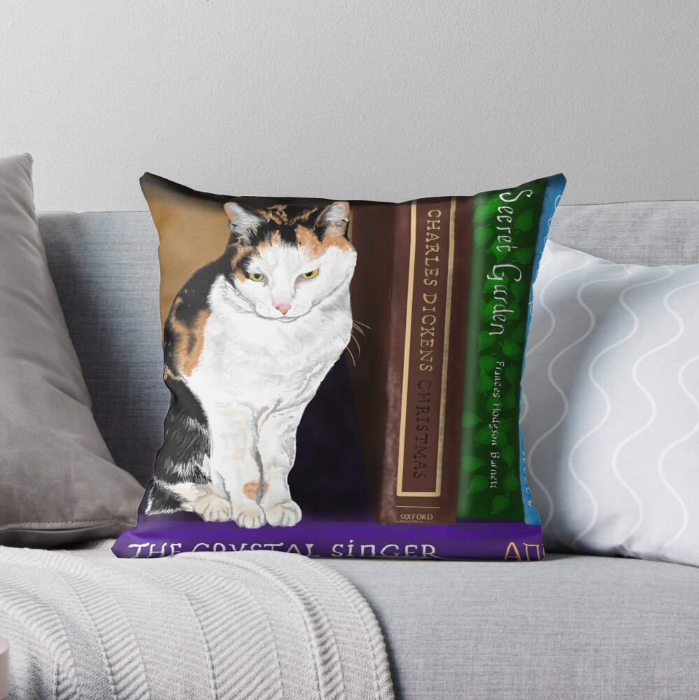 Agatha and Other Classics Throw Pillow