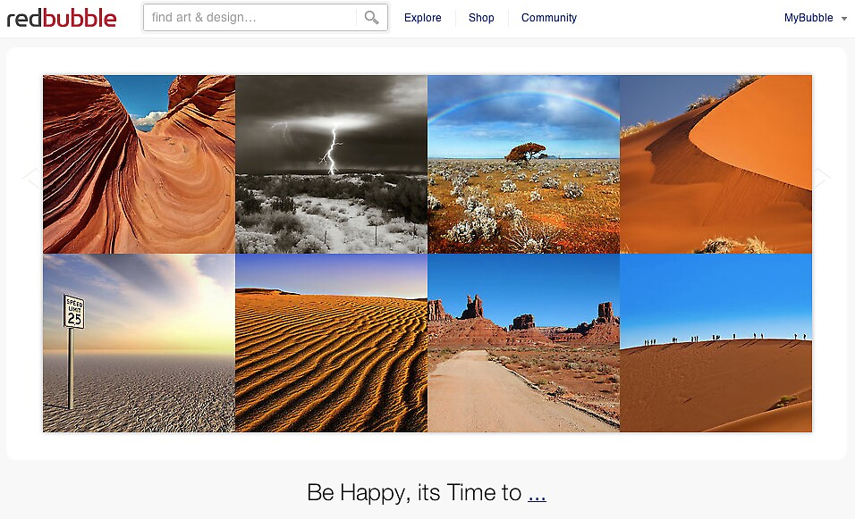 Under a desert sky - 2 November 2010 by The RedBubble Homepage