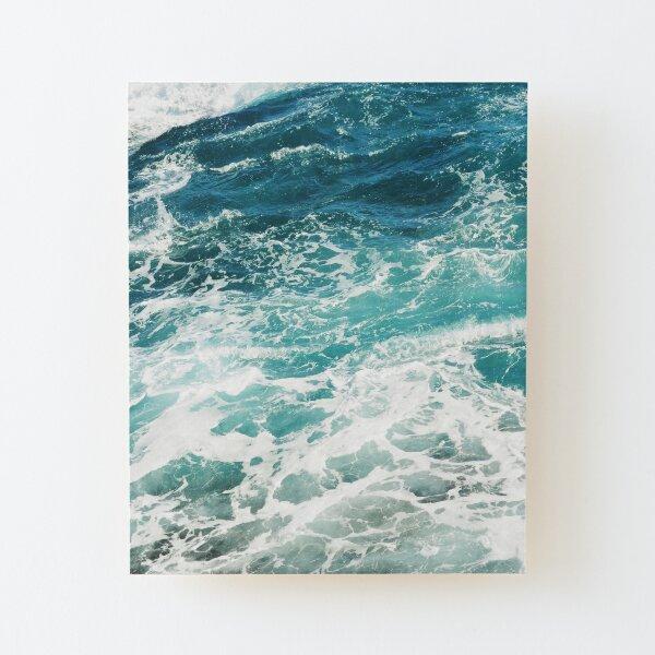 Blue Ocean Waves  Wood Mounted Print
