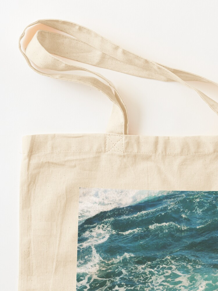 Alternate view of Blue Ocean Waves  Tote Bag