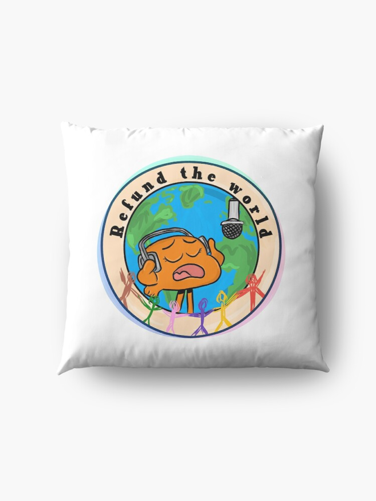 Alternate view of Refund the World - The Amazing World of Gumball Floor Pillow