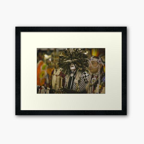 Thunder and Lightning Pow Wow Framed Art Print
