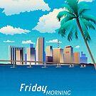 Miami Skyline by M.K. Khan