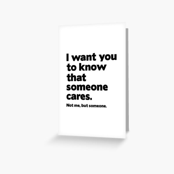 Someone Cares Greeting Card