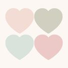 Düstere Pastell-Pop-Art-Herzen von CanisPicta