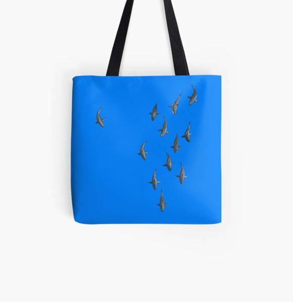 Sharks  All Over Print Tote Bag