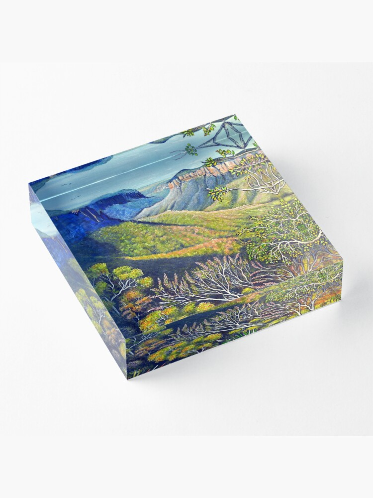 Alternate view of Govetts Leap Lookout, Blue Mountains Acrylic Block