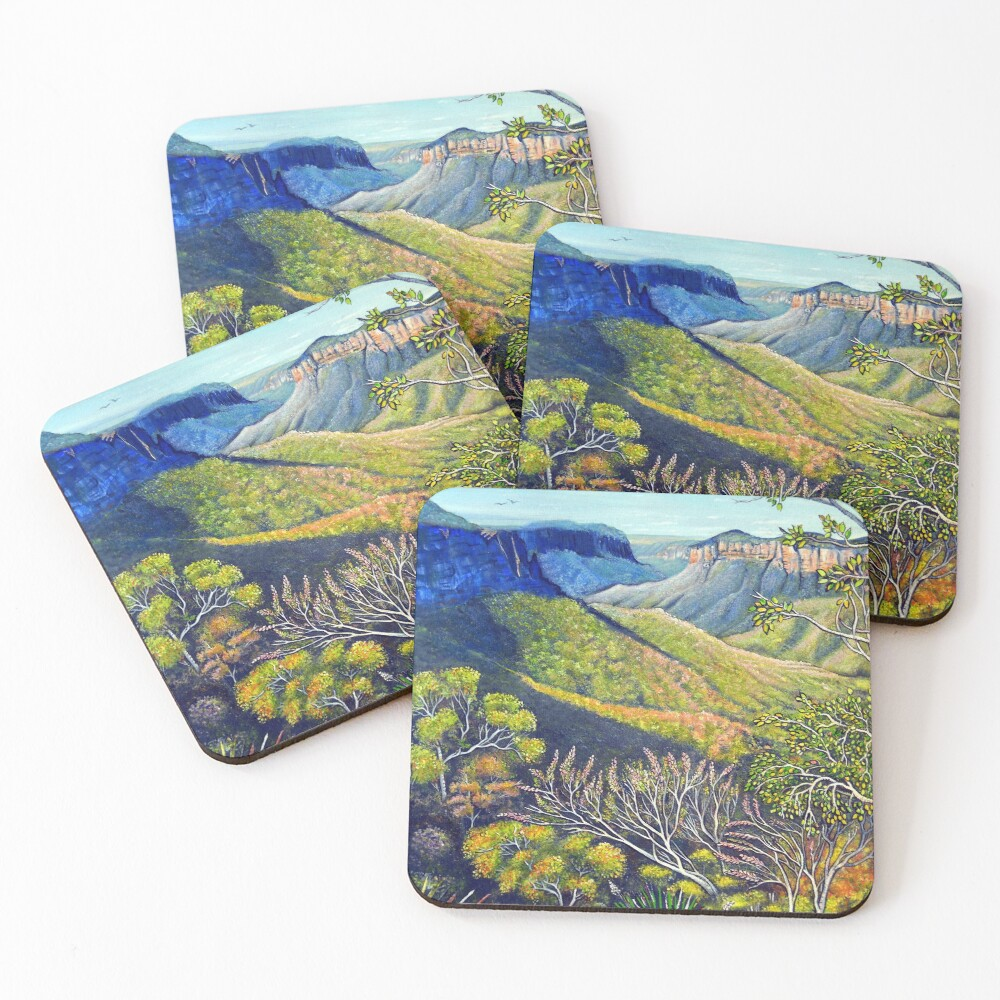 Govetts Leap Lookout, Blue Mountains Coasters (Set of 4)