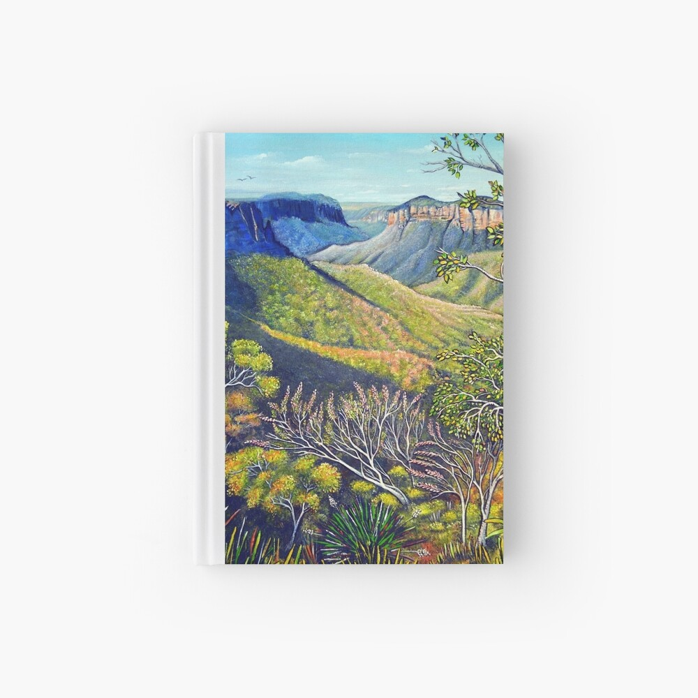 Govetts Leap Lookout, Blue Mountains Hardcover Journal