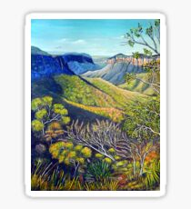 Govetts Leap Lookout, Blue Mountains Glossy Sticker