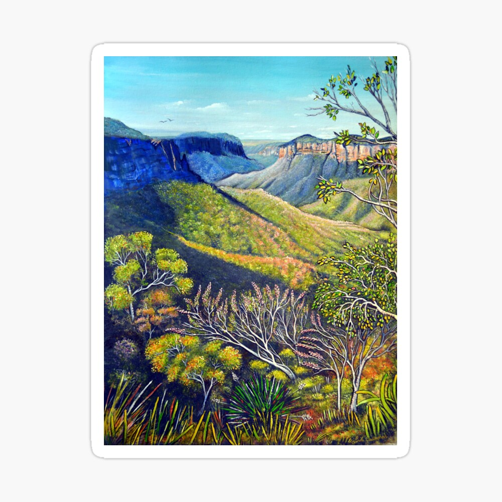 Govetts Leap Lookout, Blue Mountains Sticker