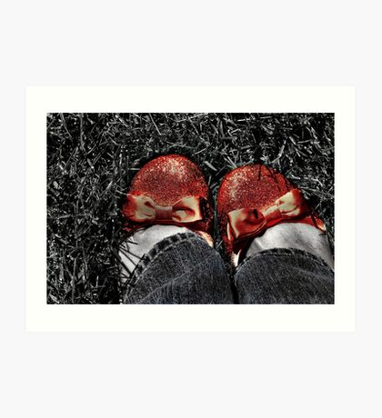 The slippers -- yes, the slippers! Art Print