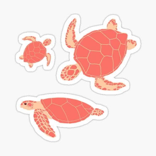Sea Animal Sticker Pack | Pink Turtles Sticker