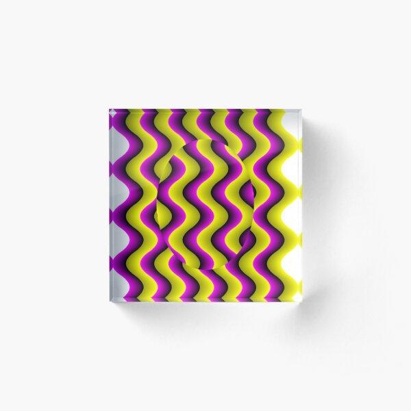#Illusion, #abstract, #design, #art, illustration, pattern, shape, decoration Acrylic Block