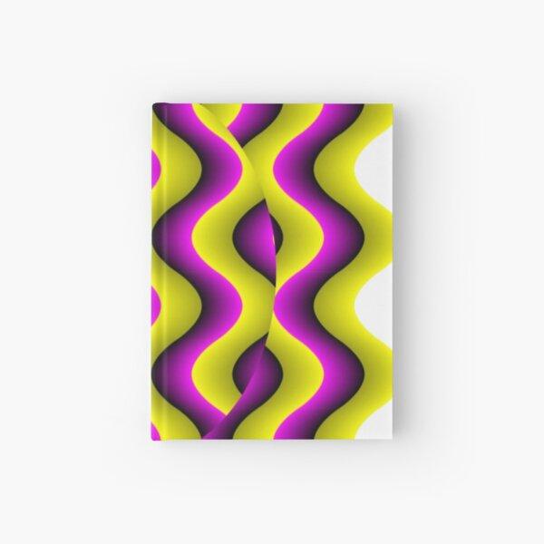 #Illusion, #abstract, #design, #art, illustration, pattern, shape, decoration Hardcover Journal
