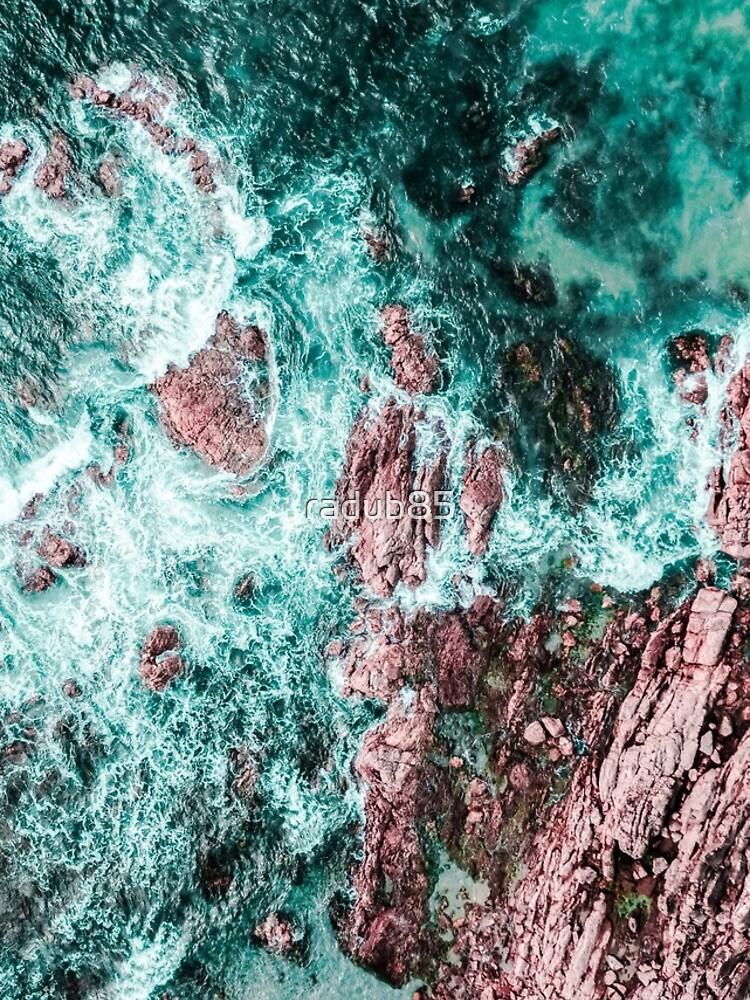 Lagos, Algarve, Portugal. Landscape Print, Aerial Photography, Beach Print, Drone Photography, Ocean Waves, Ocean Print, Art Print, Teal Landscape Print, Aerial Beach by radub85