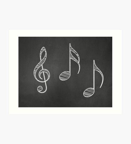 Musiknoten auf Tafel Kunstdruck