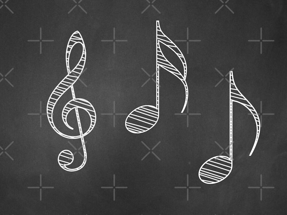 Musiknoten auf Tafel von AnnArtshock