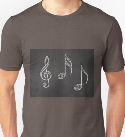 Musiknoten auf Tafel T-Shirt