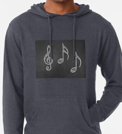 Musiknoten auf Tafel Leichter Hoodie