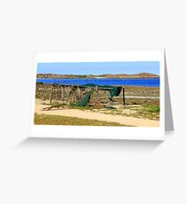 One Arm Point Greeting Card