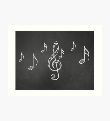 Musiknoten auf Tafel 3 Kunstdruck